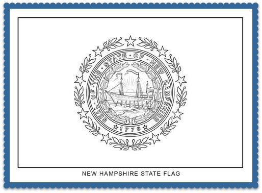 new hampshire state flag coloring page print or color online