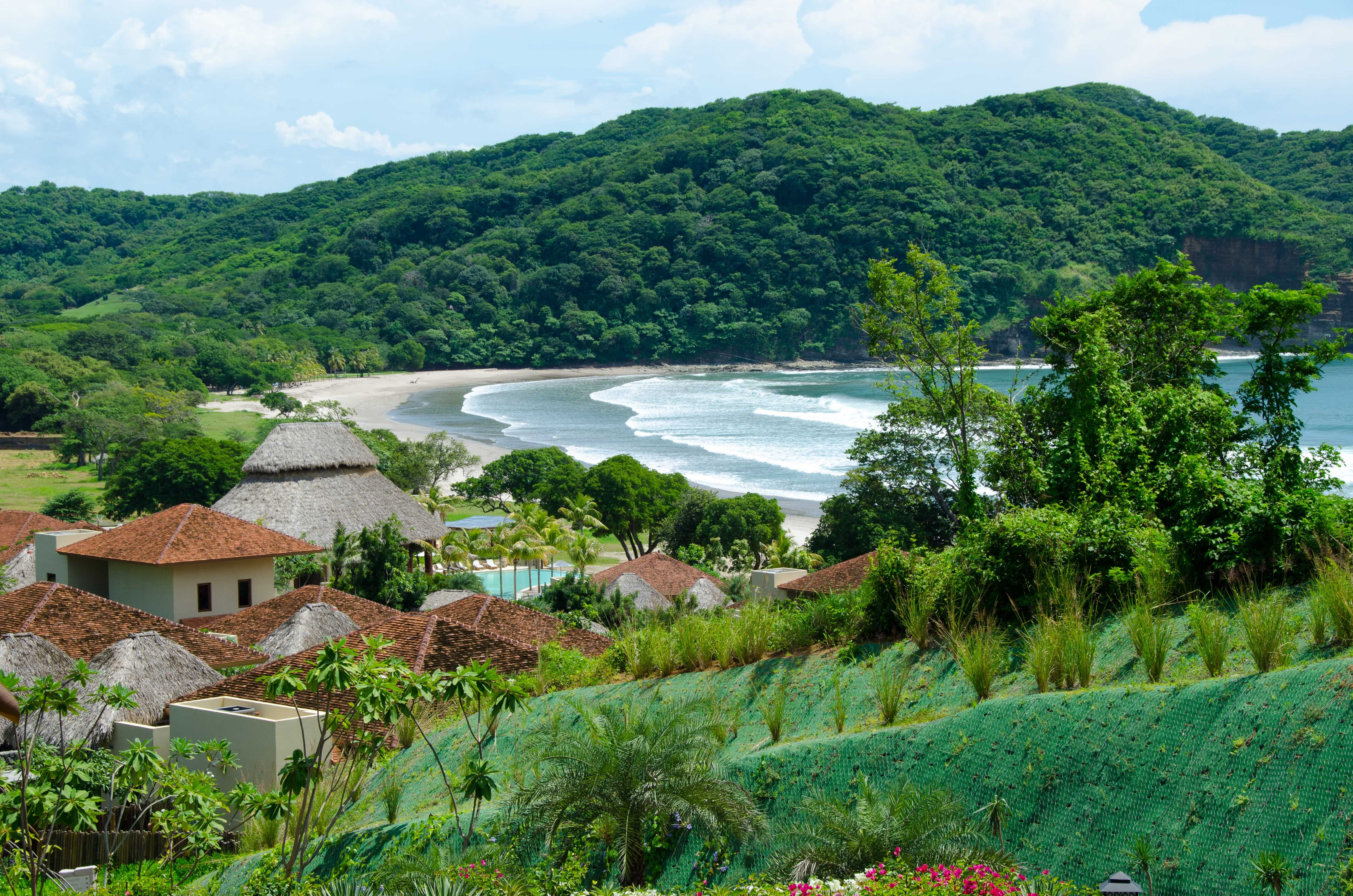Nicaragua's Pacific Coast as viewed from the spectacular Mukul Resort, one of the finest hotels in Central America