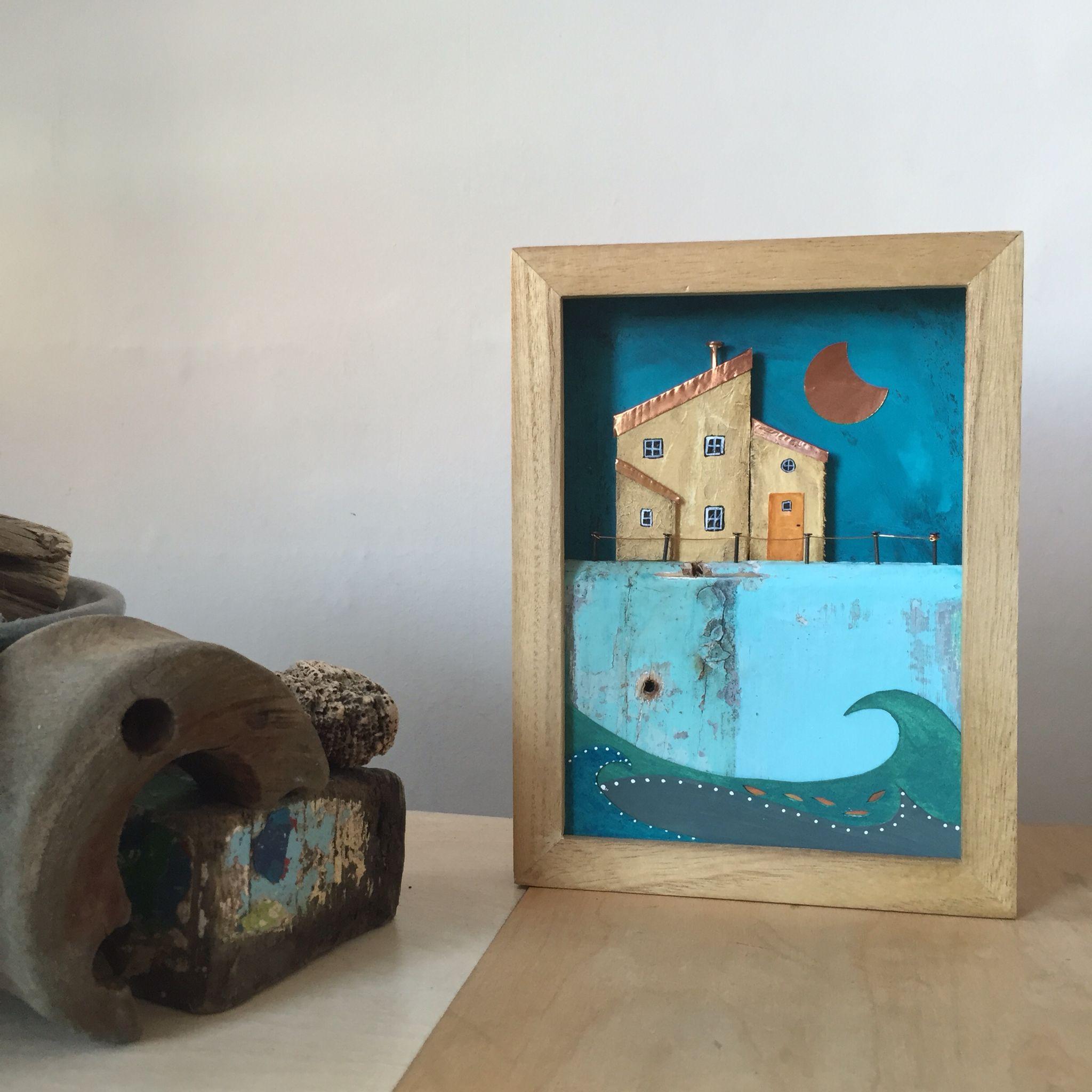 mixed media - coastal shadow box | Cuadros y Marcos | Pinterest ...