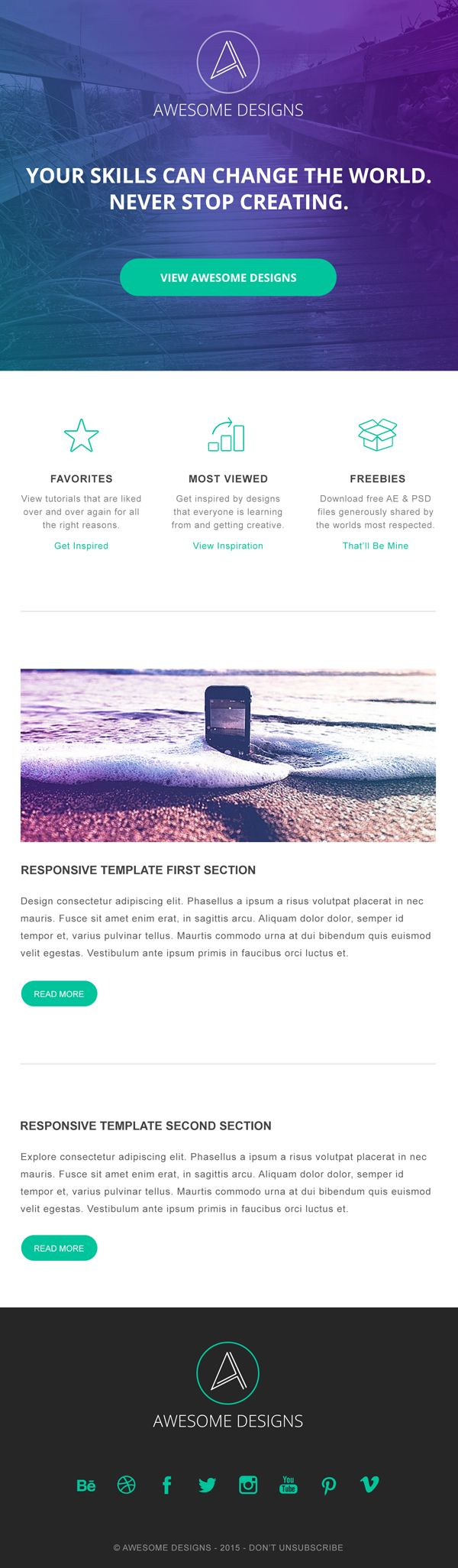 free responsive email template design psd psdtemplate webtemplate
