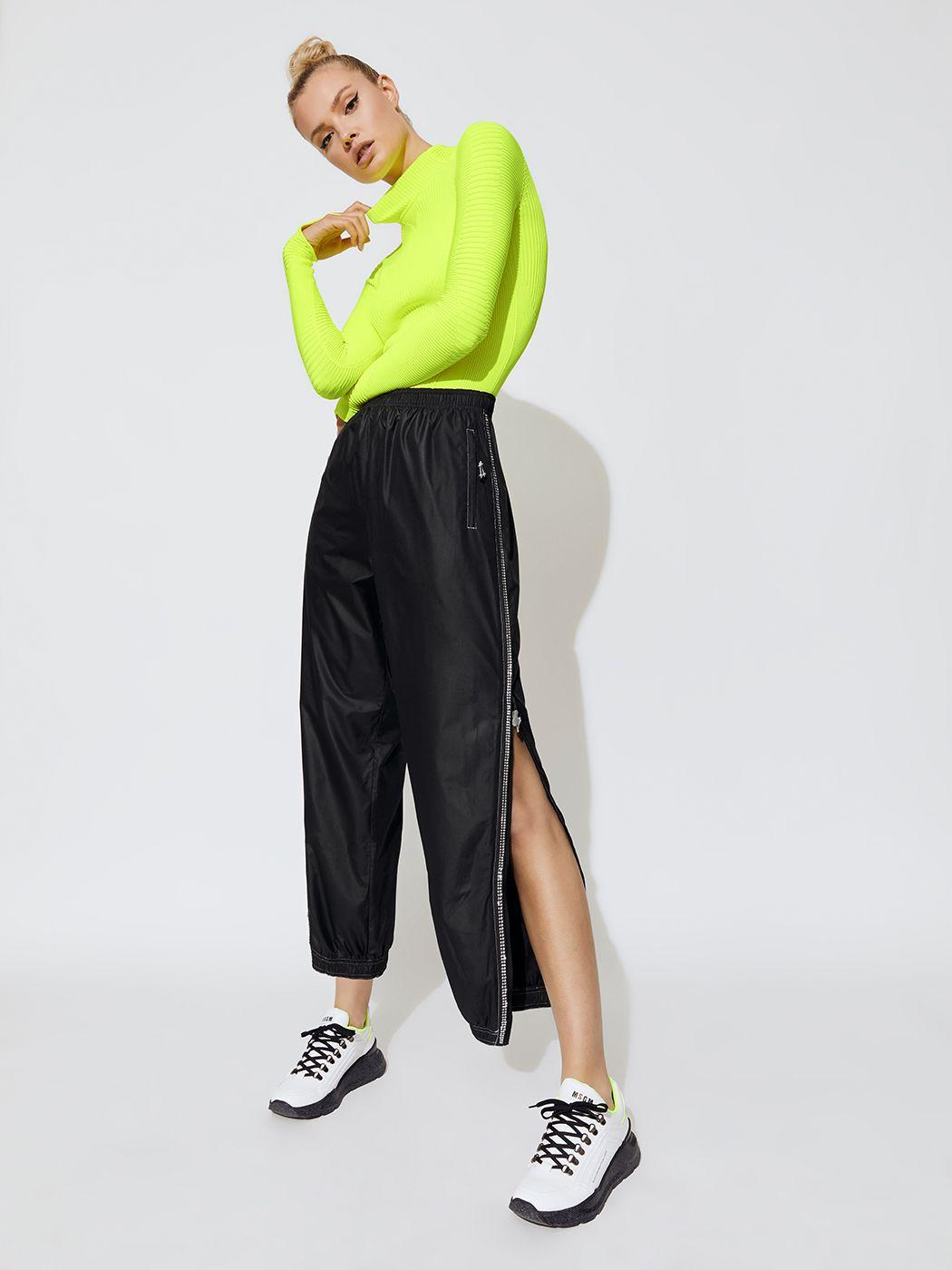 Adam Selman Sport Unisex Track Pant Black Fashion