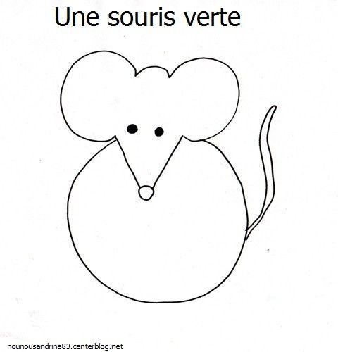 Activit manuelle souris verte enfants une souris verte souris et activit manuelle - Coloriage souris verte ...
