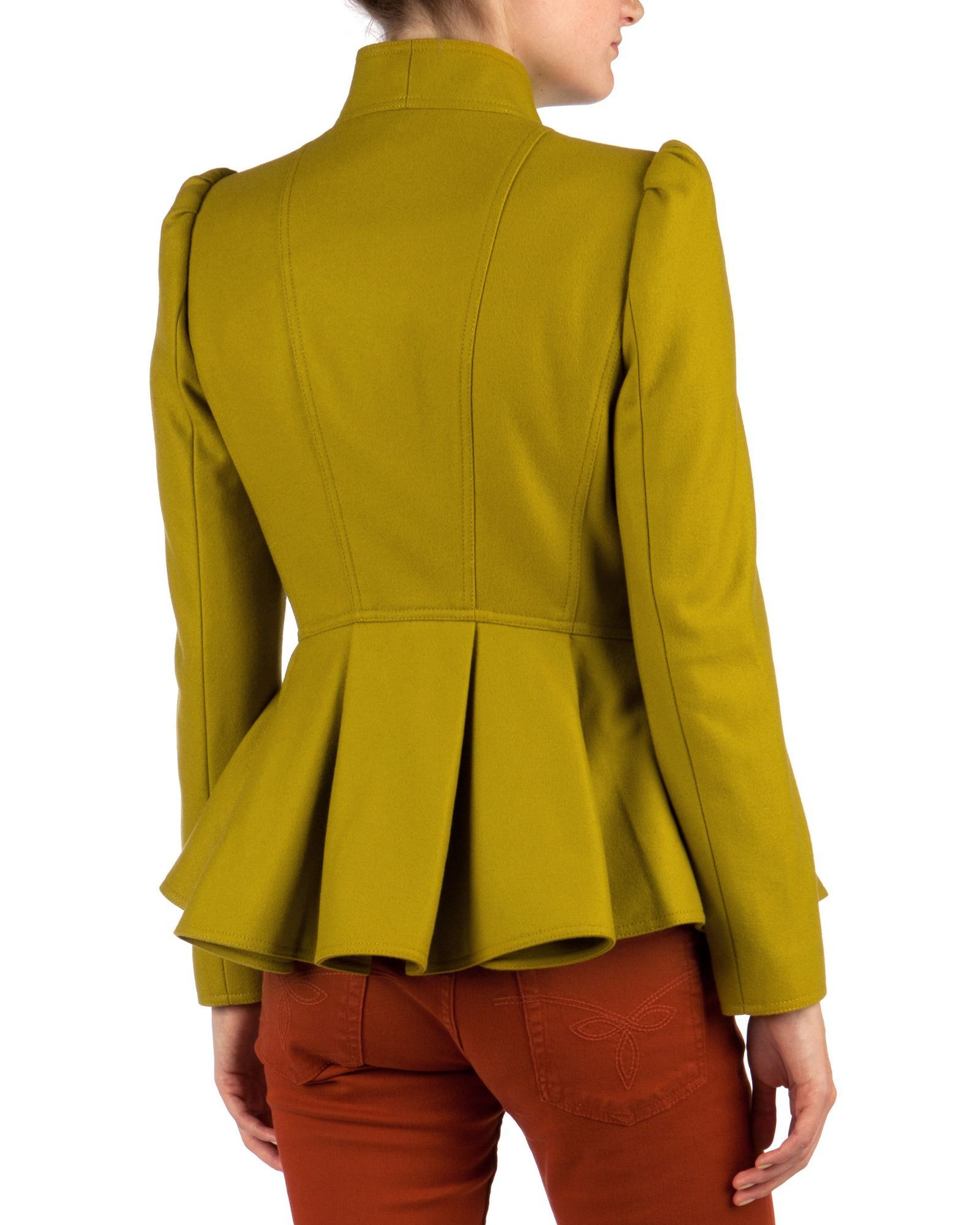 42d4bd22d Ted baker Wrenn Wool Peplum Jacket in Green