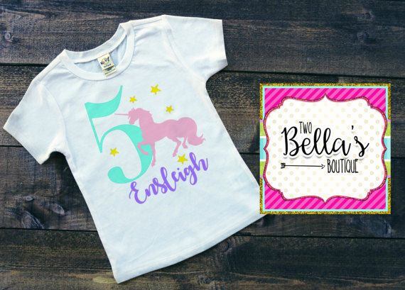 Unicorn Birthday Shirt By TwoBellasBoutique