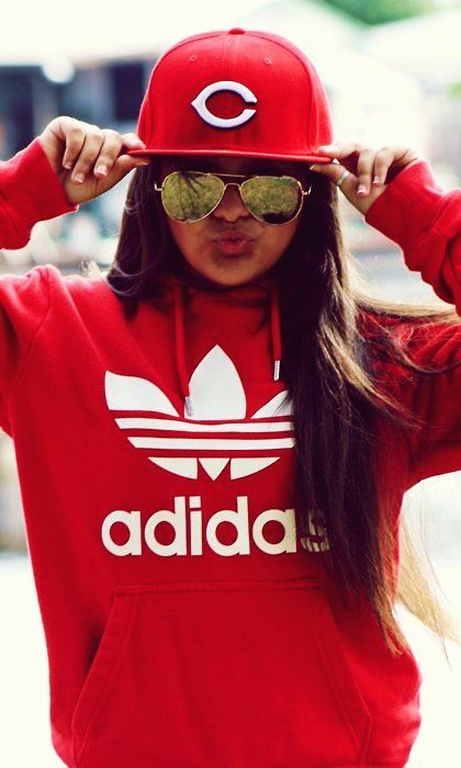 dbee3f36fbc Red Adidas Hoodie for Cool Girl