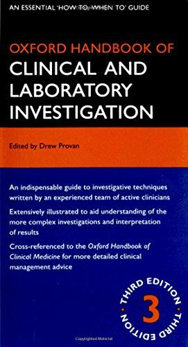 Oxford Handbook Of Clinical And Laboratory Investigation Https Www Amazon Co Uk Dp 01992 Medical Laboratory Science Medical Technology Medical Laboratory