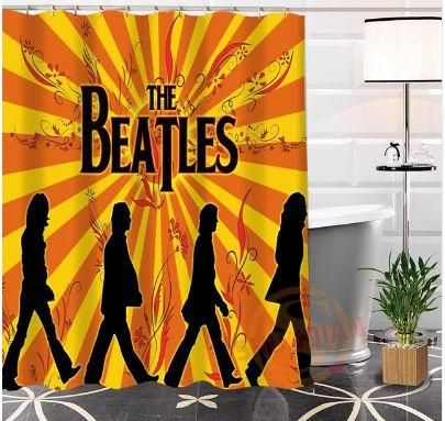 1 Best Selling The Beatles Bathroom Shower Curtain Novelty