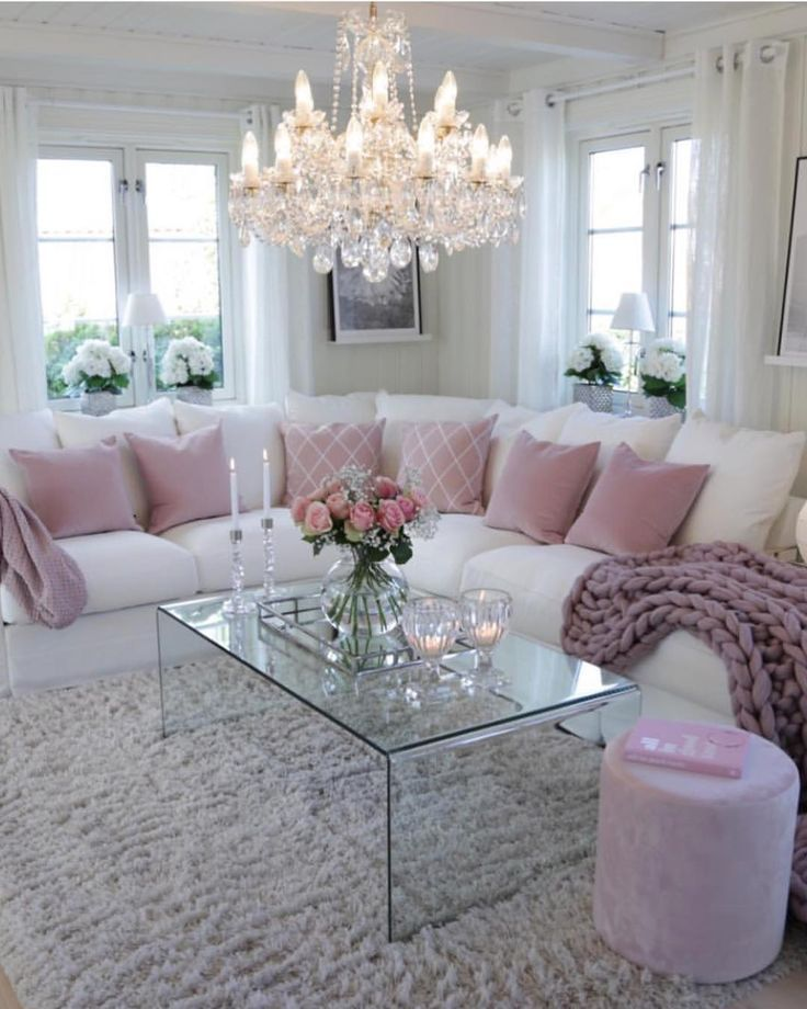 White sofa with pink accent pillows for living room also tips designing the perfect bedroom design ideas home rh pinterest