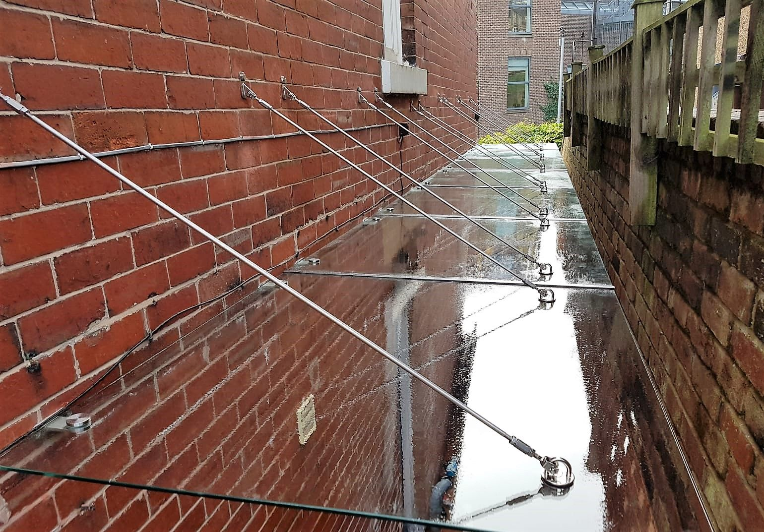 Alleyway Glass Canopy Glass Porch Canopy Porch Canopy