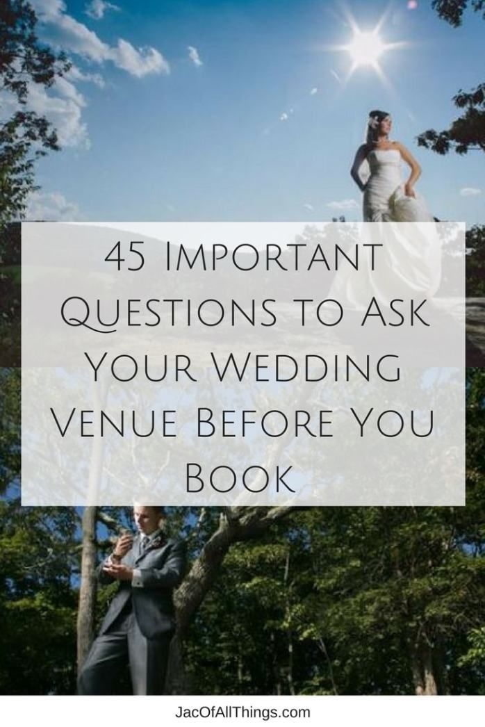 45 Super Important Questions to Ask Your Wedding Venue ...