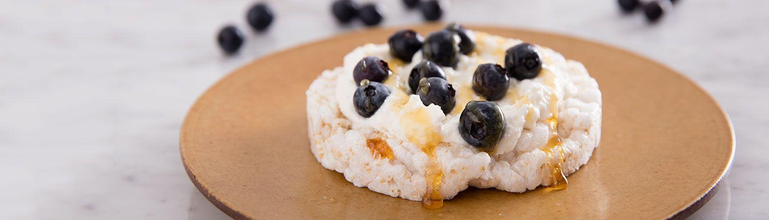 Blueberry honey topped rice cake recipe rice cake