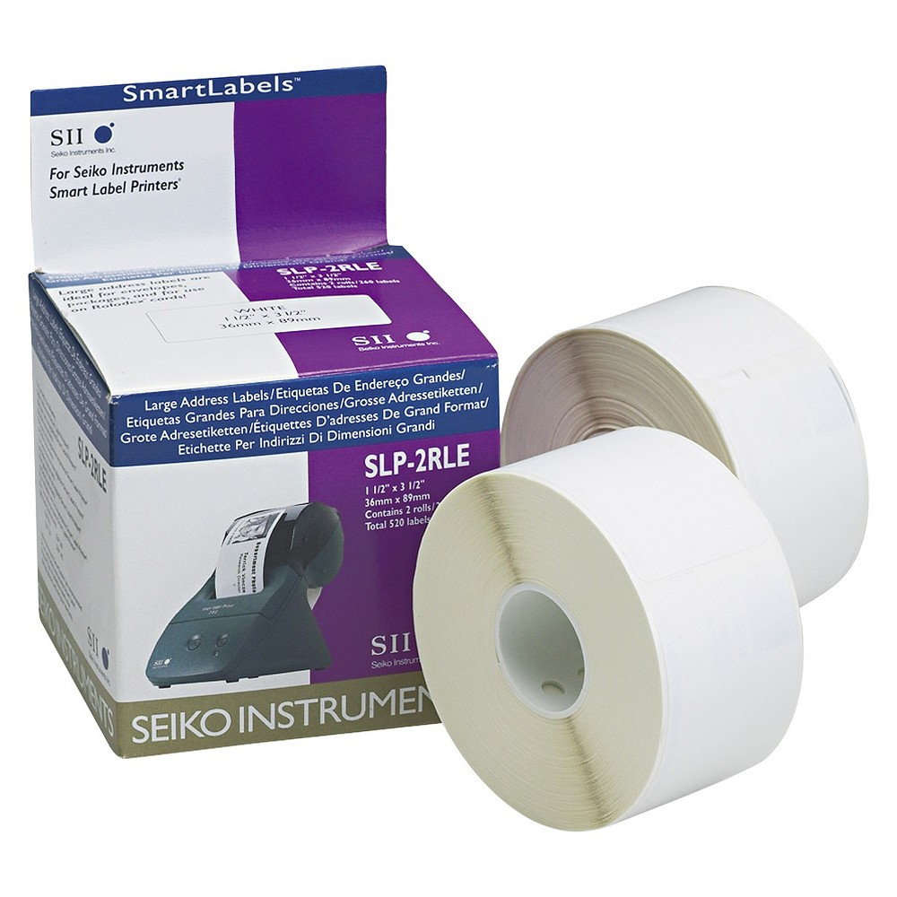 Seiko Self Adhesive Address Labels 1 1 2 X 3 1 2 White 520 Box