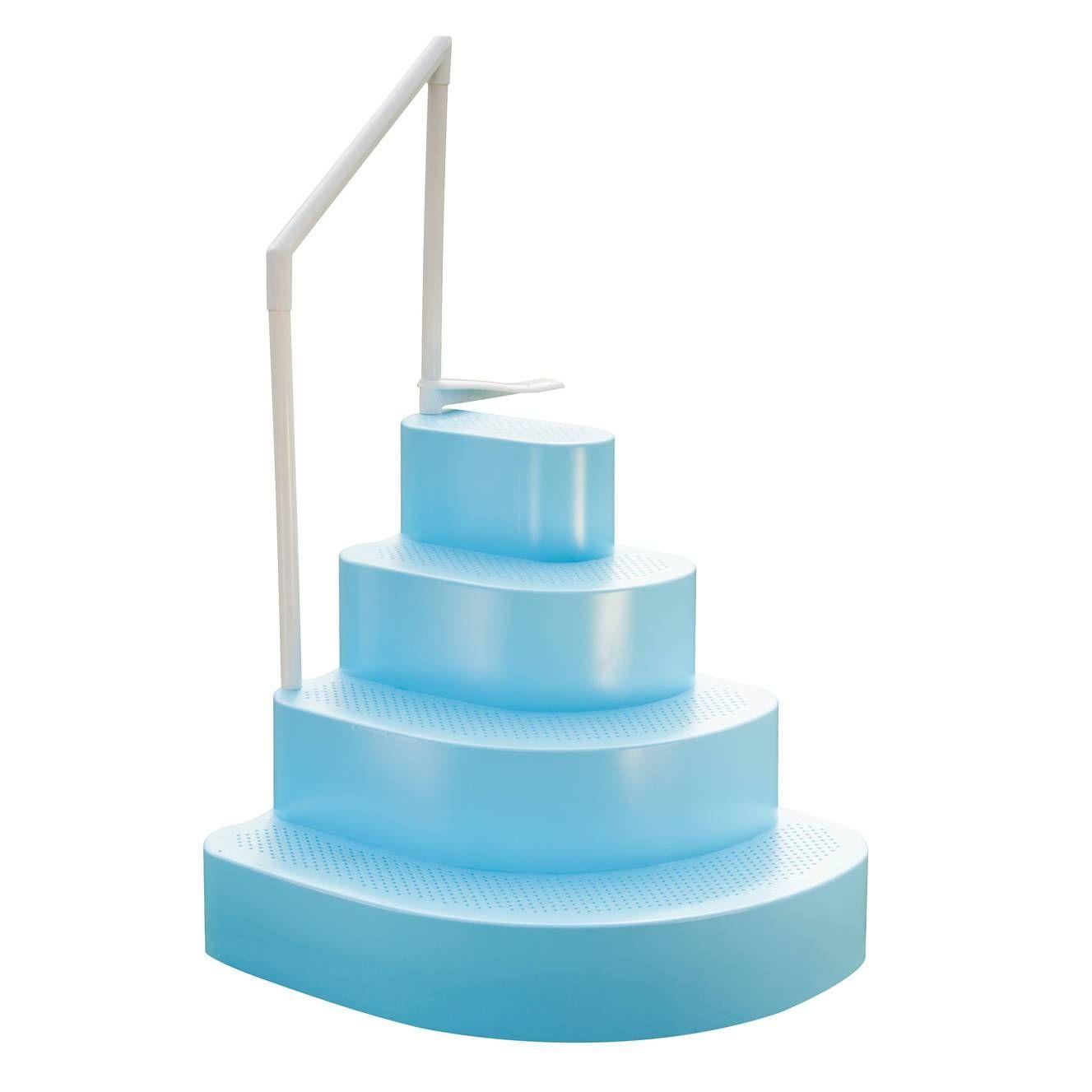 Wedding Cake Step W Liner Step Pad In 2020 Wedding Cake Pool Steps Above Ground Pool Steps Swimming Pool Steps