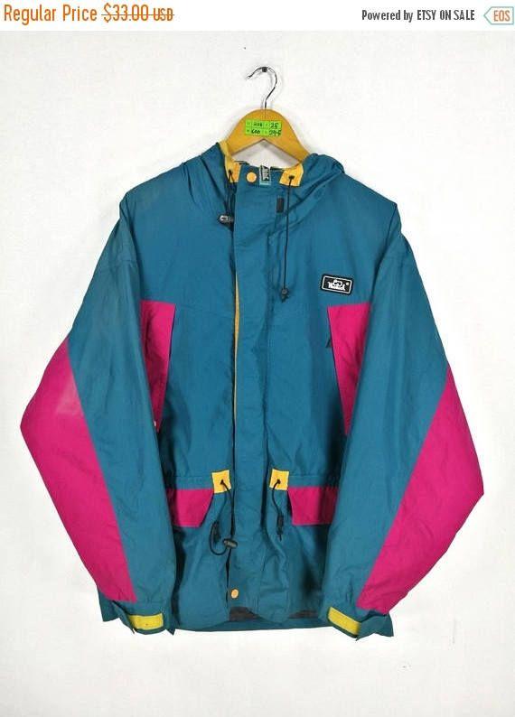 b73a940b3f Vintage 90s WOOLRICH Windbreaker Jacket Large Vintage Woolrich Athletic  Sportswear Woolrich Multicolour Windbreaker Jacket Hoodie Size