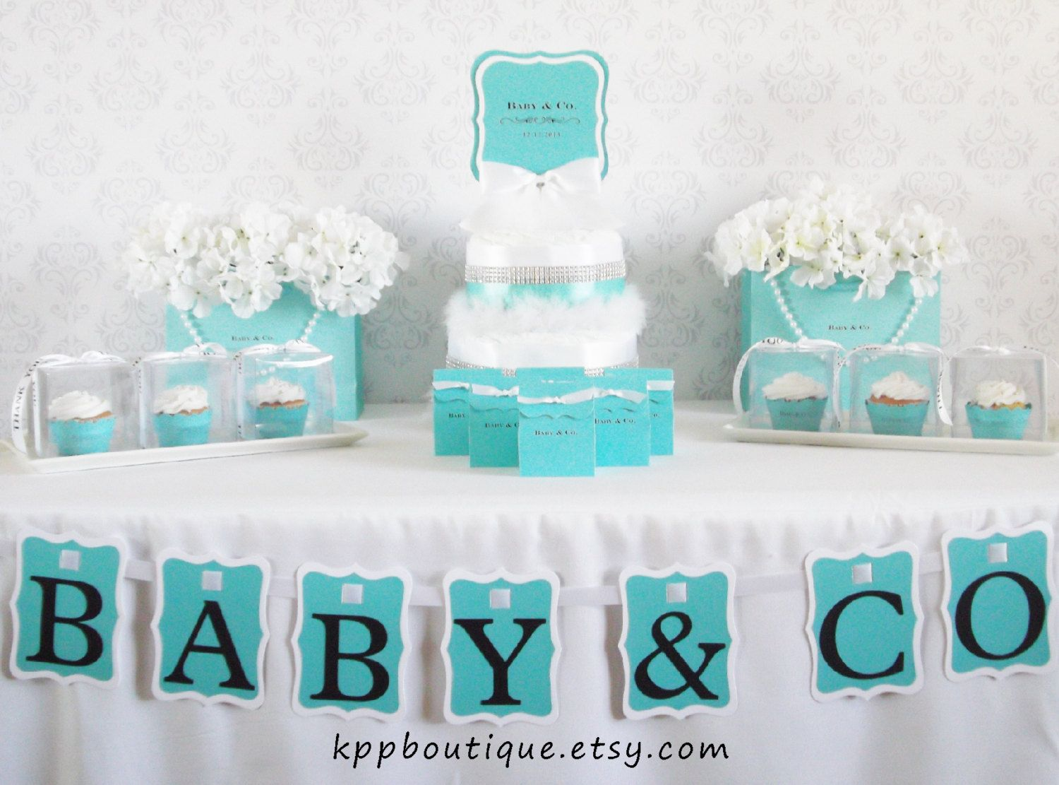 Tiffany U0026 Co. Inspired Baby Shower Bridal Shower Sweet Sixteen Party  Package For 24.