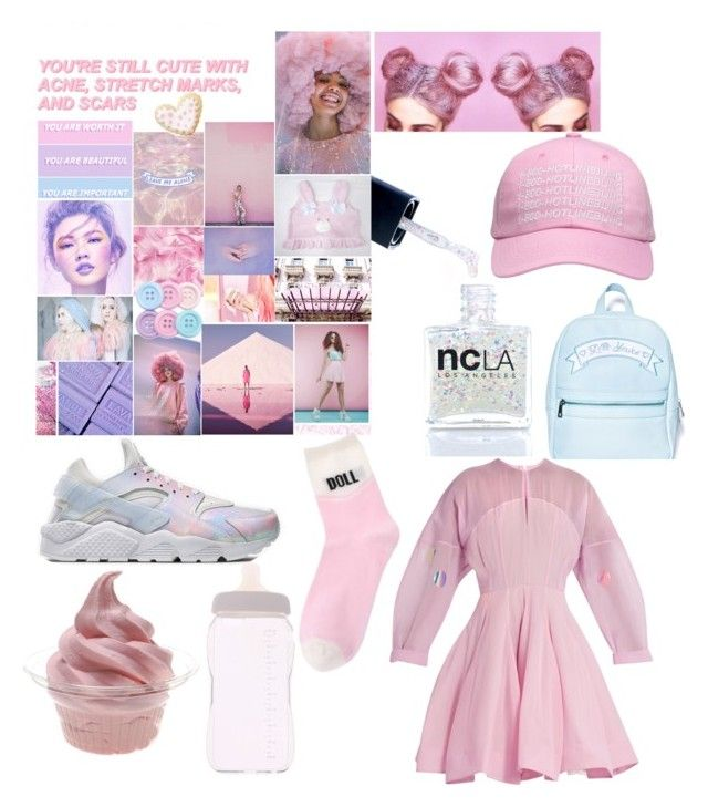 """tumblr trash"" by diabolic on Polyvore featuring Wilton, Ashish, GE, NIKE, ncLA, Sugarbaby, Natasha Zinko and Disney"
