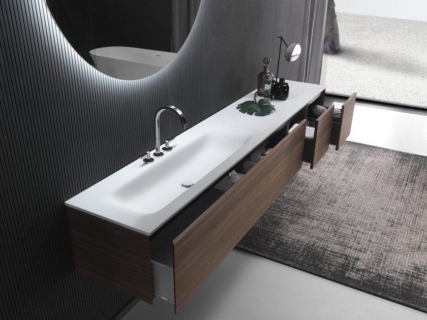 Download The Catalogue And Request Prices Of Flat Soft By Falper Cristalplant Biobased Top With Integrated Washbasin Salle De Bain Design Plan Vasque Lavabo