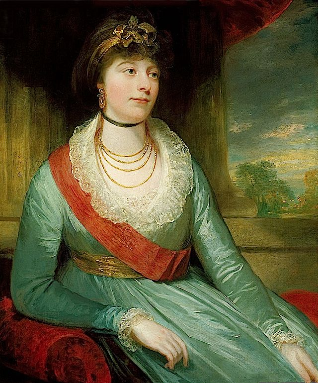 1800 Princess Charlotte Mathilde by William Beechey (Royal Collection)