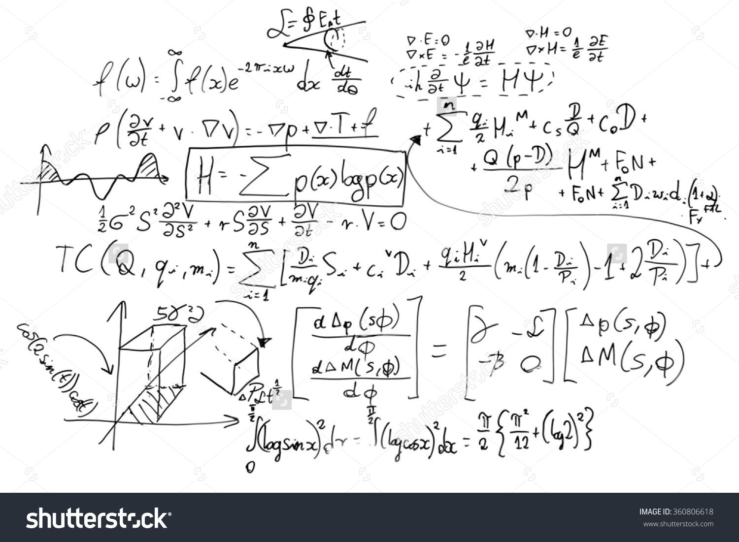 Stock photo complex math formulas on whiteboard mathematics and complex math formulas on whiteboard mathematics and science with economics concept real equations symbols handwritten by a professional buycottarizona Image collections