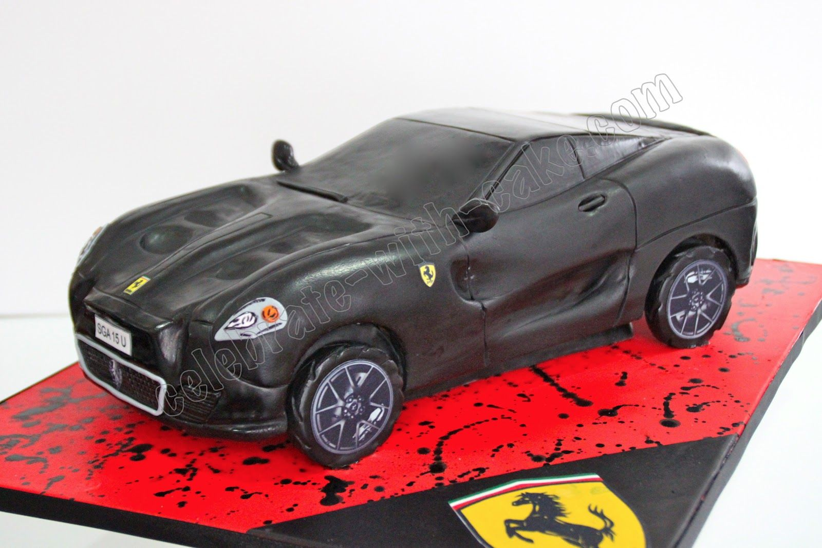 Celebrate with cake sculpted ferrari car cake cake 2 celebrate with cake sculpted ferrari car cake baditri Gallery