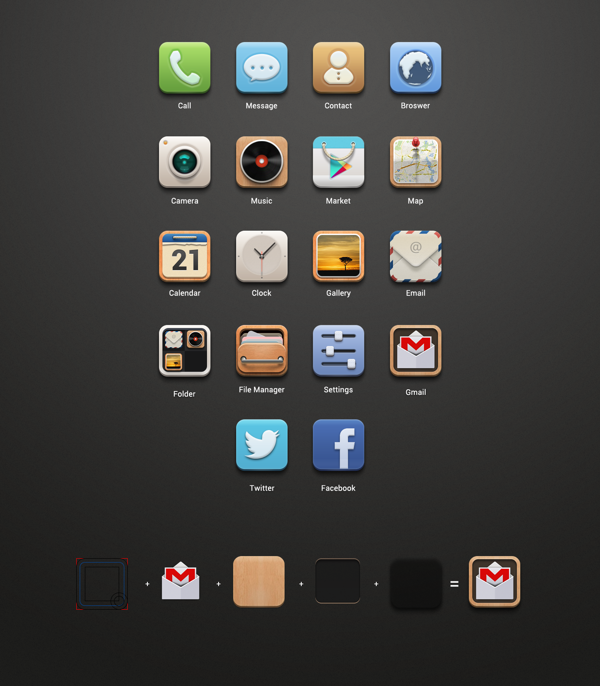 Launcher IconTheme by Beline Z, via Behance Launcher