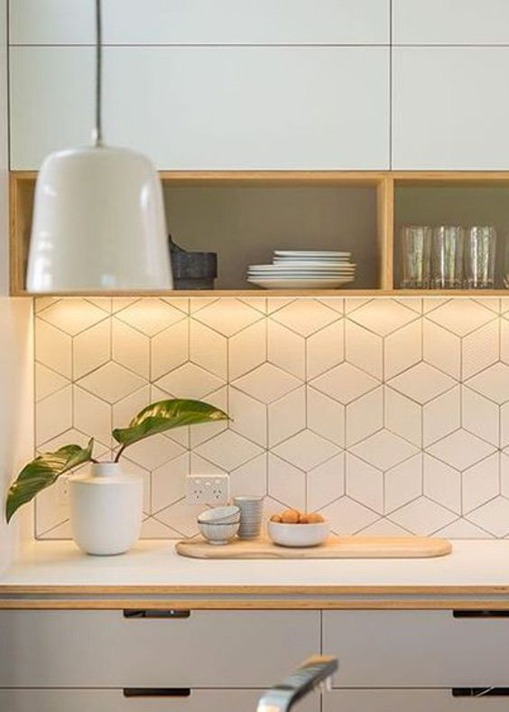 Wonderful Trend We Love: Geometric Falling Block Tile. Kitchen DecorSpace ...