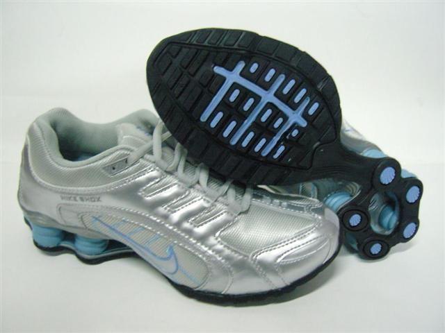 96123eb87ab Women Nike Shoes Women Nike Shox Silver Blue  Women Nike Shox - Add a gleam  of shine to your footwear wardrobe with this glorious Women Nike Shox Silver  ...