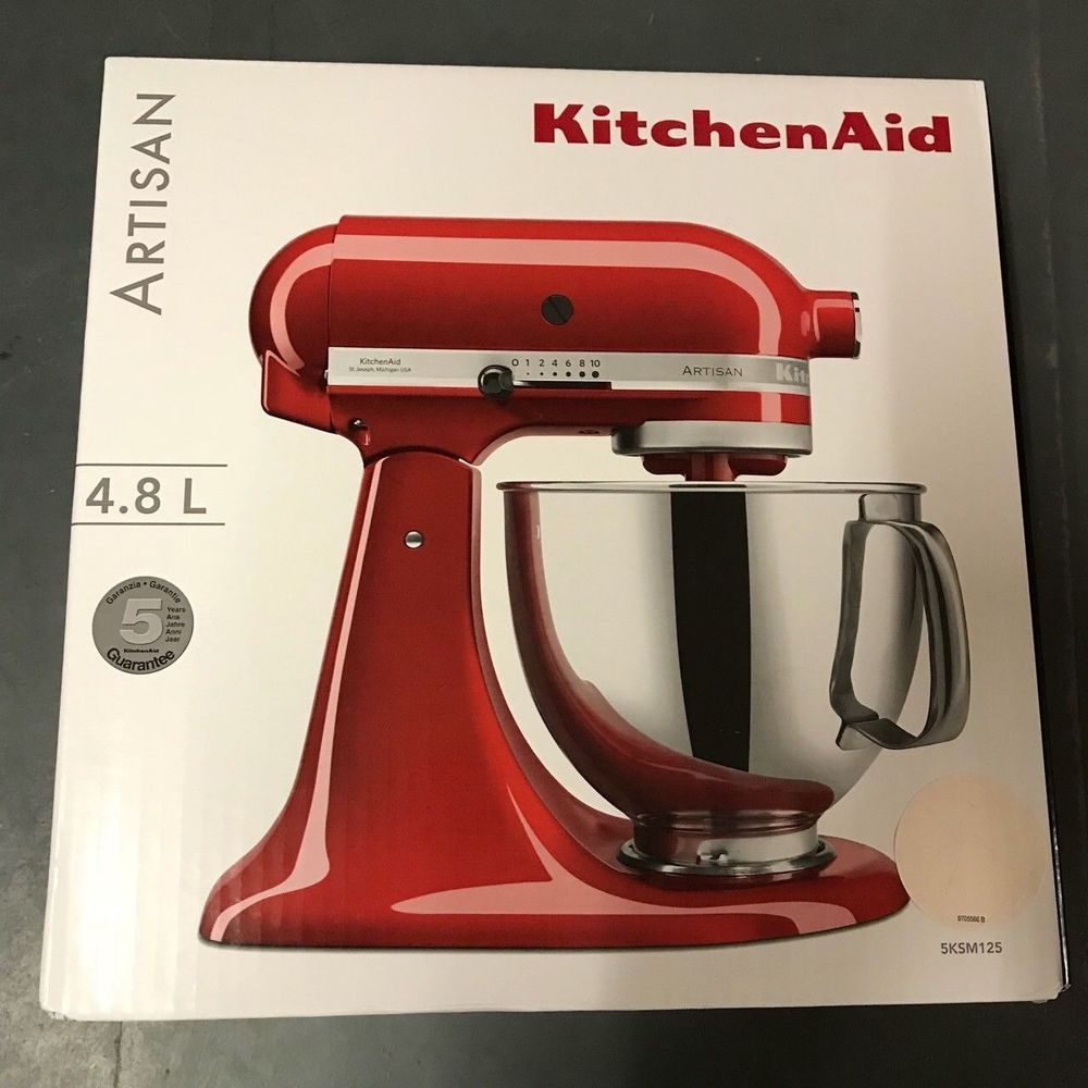 Artisan Kitchen Aid Mixer 4 8l Almond Creme Brand New And Sealed 5ksm125bac New Kitchenaid Best Kitchen Appliances 2018 K Kitchen Aid Kitchen Aid Mixer Mixer