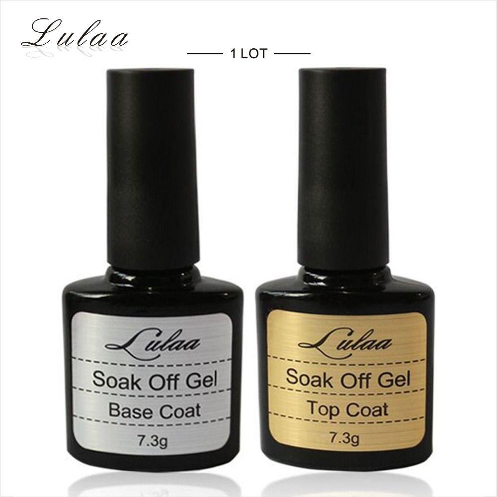 LULAA Marca 10 ML Top coat + strato di Base, Gel Uv Nail Polish Primer Untuk Dekorasi Donne Nail Art