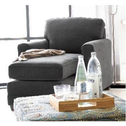 Simmons Stirling Chaise In Dark Peat Grey 999 99 Sears