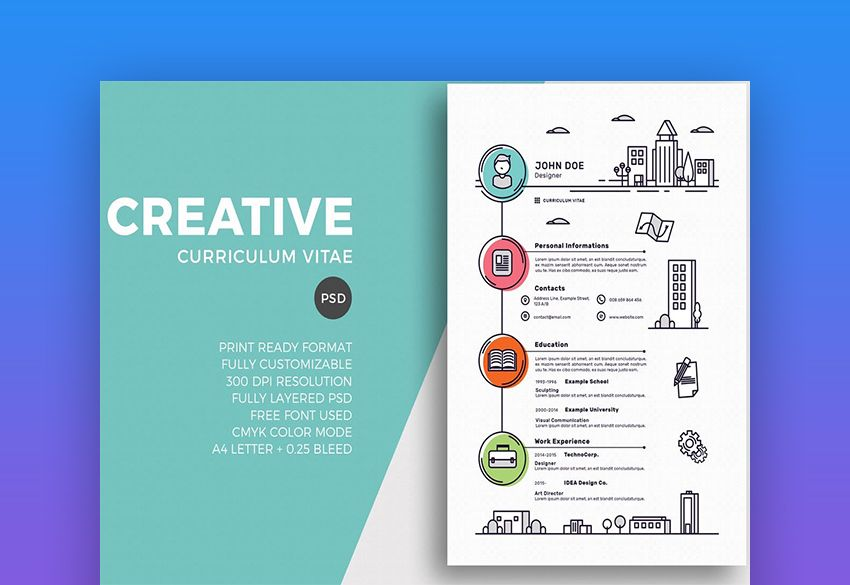20 Free Creative Resume Templates Word Psd Downloads Creative Resume Template Free Unique Resume Template Free Resume Template Word
