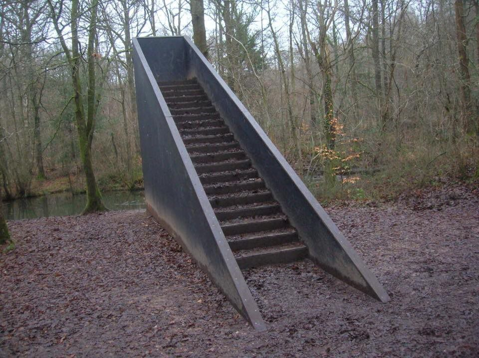 cursed images (cursedimages) Twitter Stairs in the