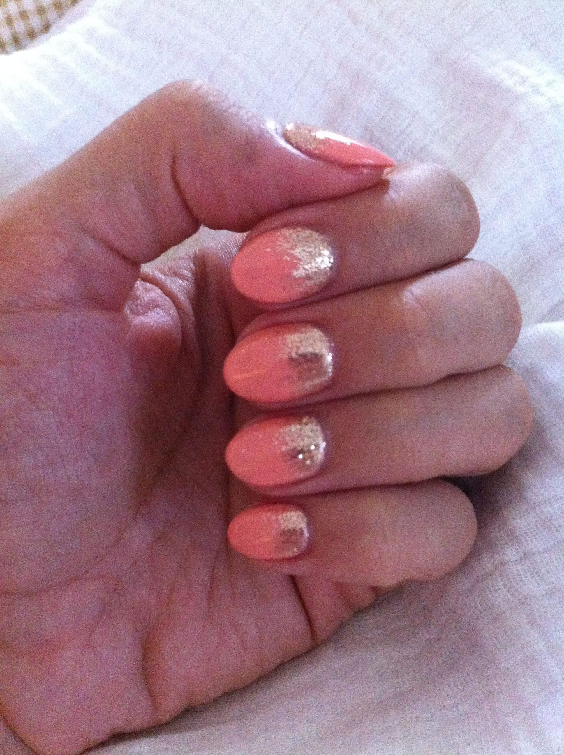 Love my new creamy peach almond shaped nails | Fashion nails | Pinterest