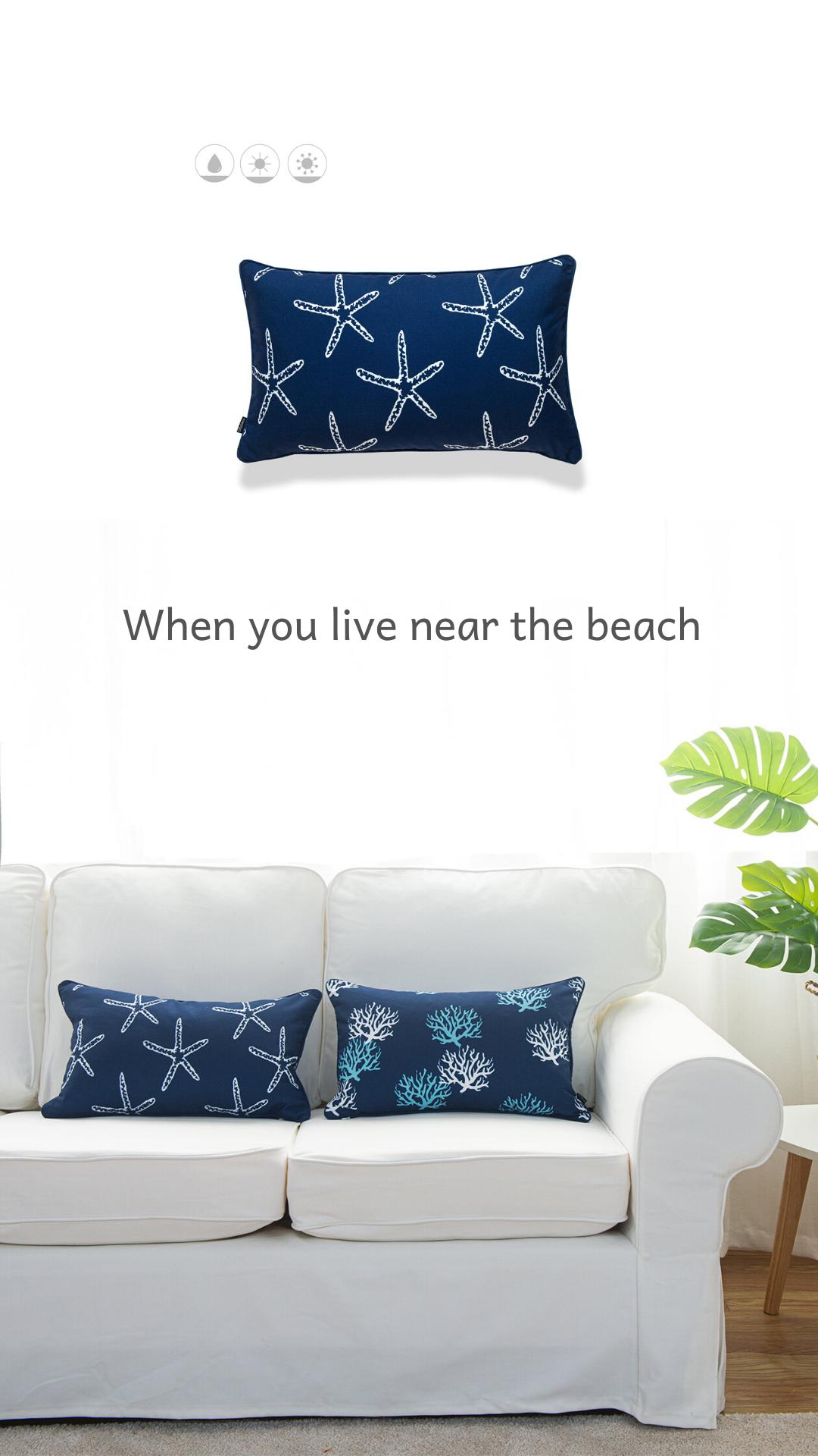Hofdeco Coastal Nautical Pillow