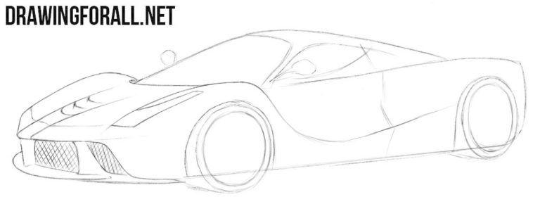 How to Draw a Ferrari Laferrari