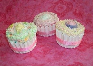 Baby Sock and Blanket Cupcakes - Perfect Shower Gifts!