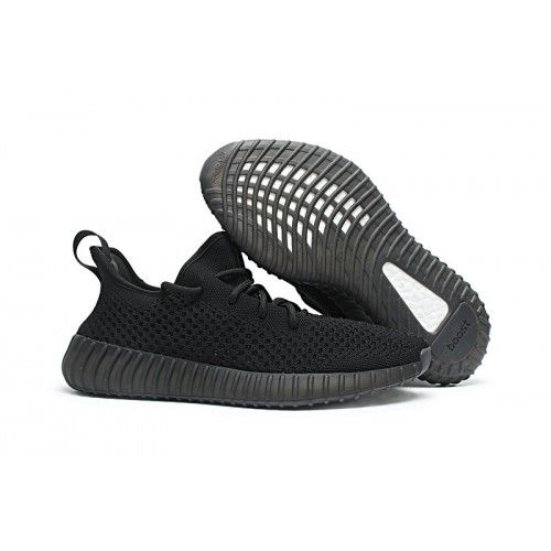 sports shoes a8fe8 42fdf Køb Adidas Yeezy Boost 350 V3 Triple Sort Sko Udsalg