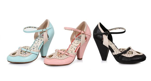 Retro Shoes (Ellie Shoes): BP403 ALICIA (Pink).