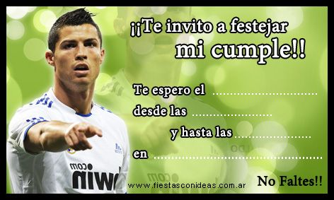 Tarjeta De Cumpleaos De Ronaldo Real Madrid Parties Pinterest