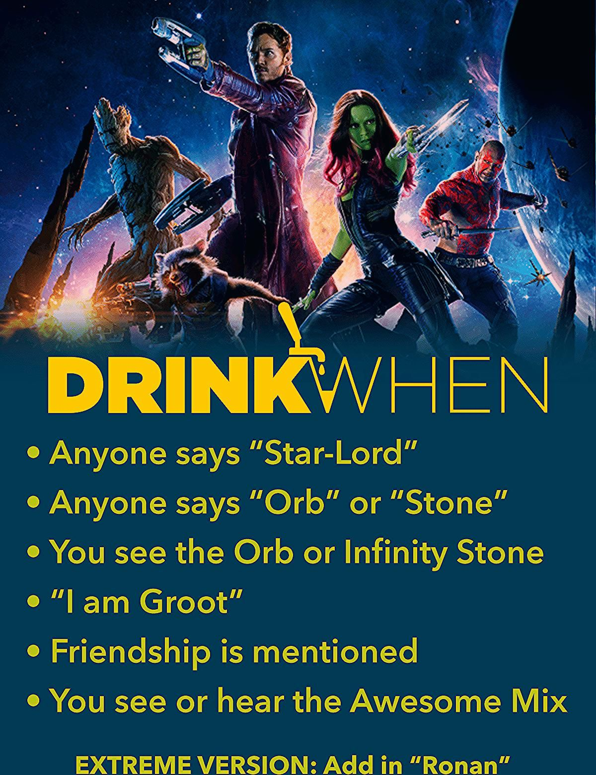 Photo of Guardians of the Galaxy (2014) Drinking Game – Drink When