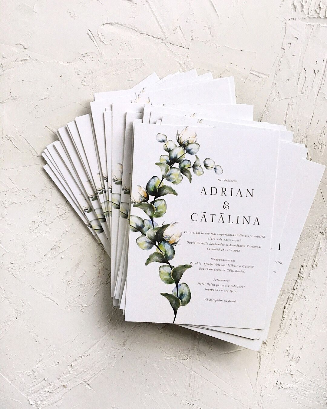 Greenery Wedding Invitations Printed On Cotton Paper Papira