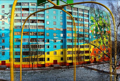 apartment complex in Ramenskoye, a small city south-east of Moscow