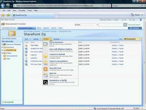 Download an entire SharePoint document library as a Zip File