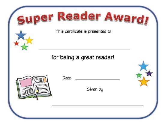 reading certificate teaching aids Pinterest Certificate