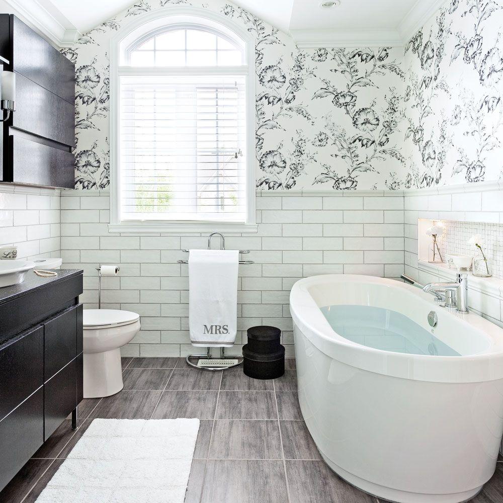 Salle de bain de style «nouveau champêtre» - Salle de bain ...