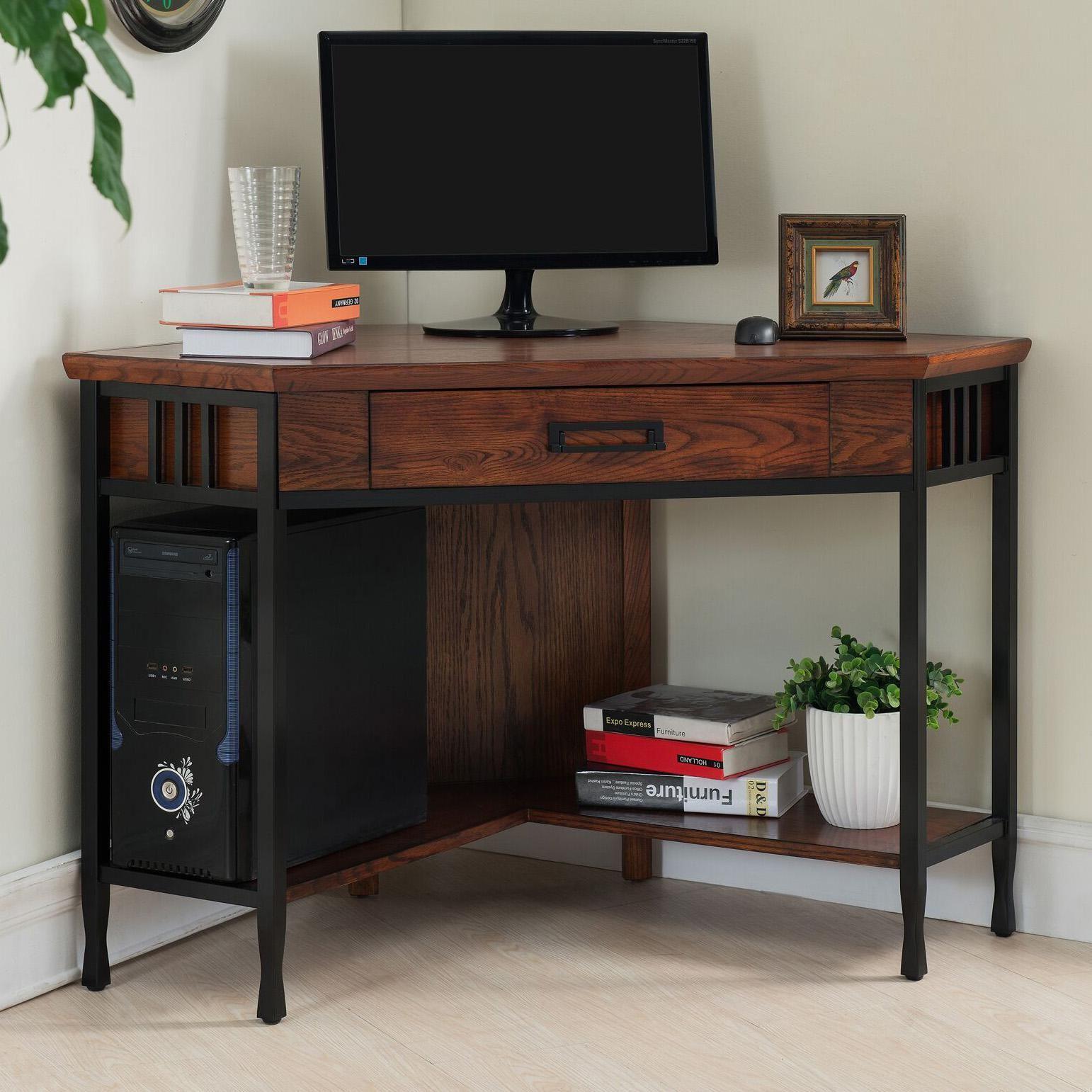 Ironcraft 48 Inch Wide Mission Oak Corner Computer Writing Desk In 2020 Corner Desk Office Diy Corner Desk Corner Writing Desk