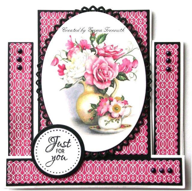 Floral stepper card, LOTV image