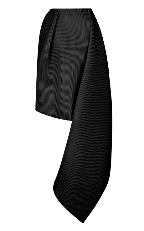 Black Accordion Wool Cleo Skirt by J.W. Anderson