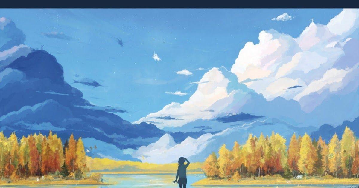 Paling Populer 30 Gambar Pemandangan Alam Vektor Wallpaper Pemandangan Lukisan Seni Fantasi Anime Danau Download La Di 2020 Pemandangan Anime Abstrak Pemandangan