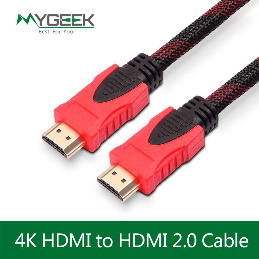 MyGeek kabel HDMI 1 M 1.5 M 3 M 4 K kabel HDMI 1.4 1080 P 3D dla ps3 projektora hd lcd apple tv notebook komputer pc kabel drutu